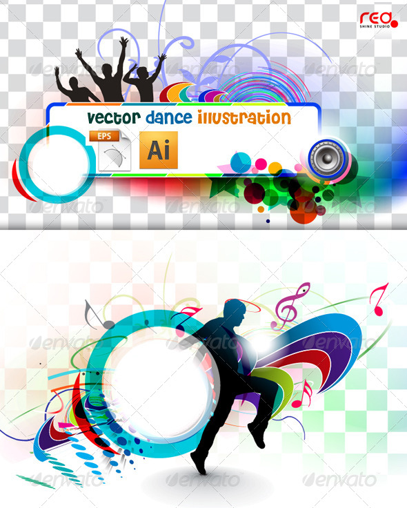 Music Party Banner Template - Backgrounds Decorative