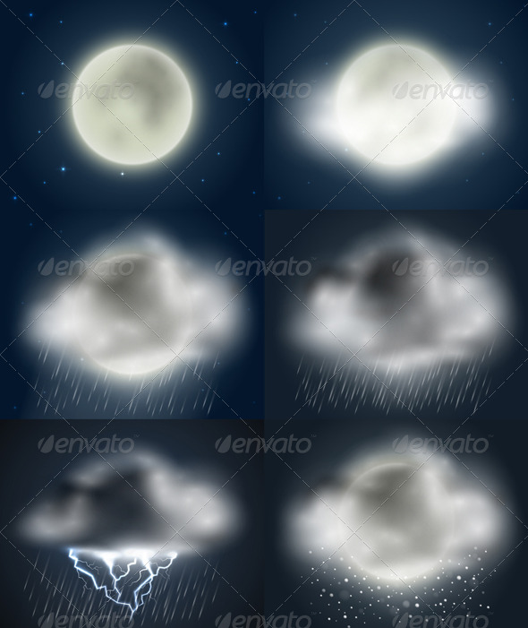 GraphicRiver Weather Icons Collection night 4488874