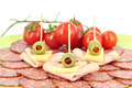 olive salami cheese and tomatoes - PhotoDune Item for Sale