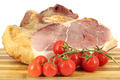 smoked ham and tomatoes on white - PhotoDune Item for Sale