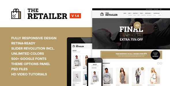 The Retailer - Retina Responsive WooCommerce Theme - ThemeForest Item for Sale