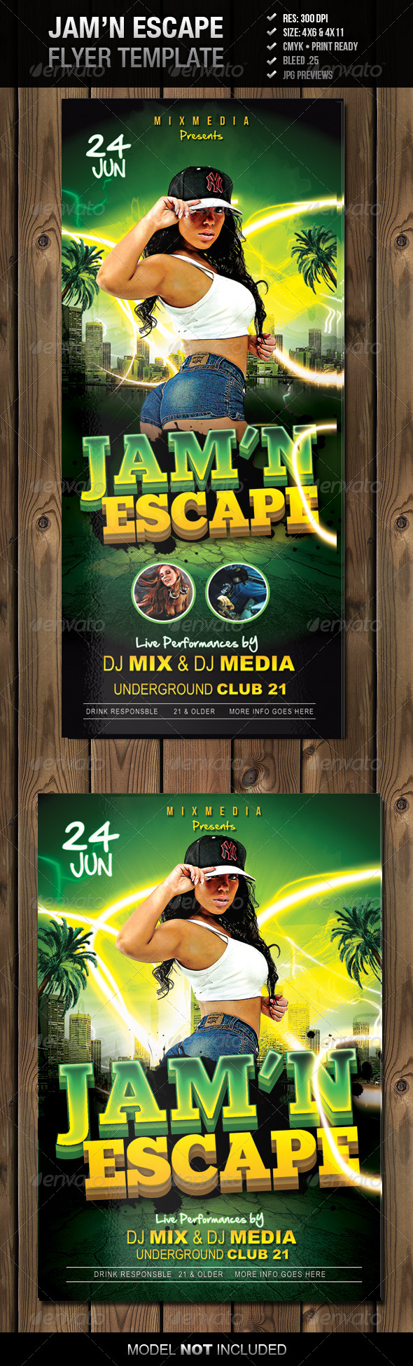 GraphicRiver Jam n Escape Flyer Template 4490145