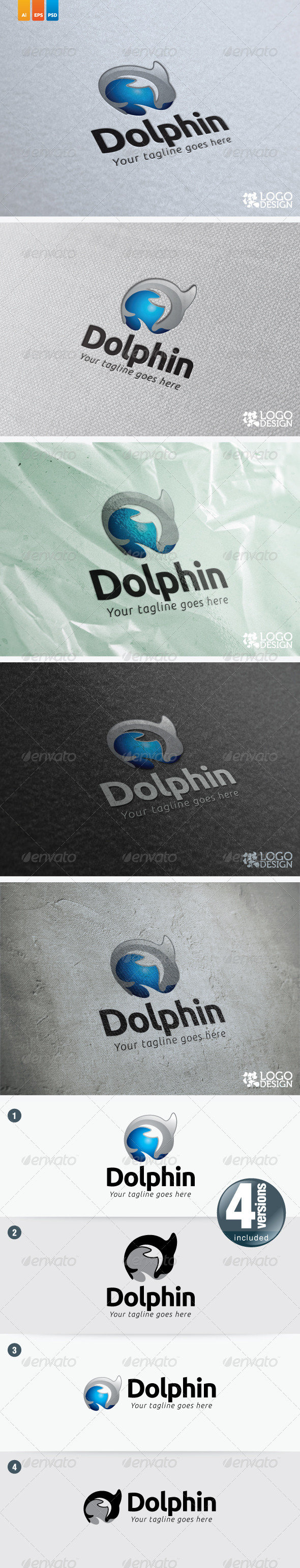 Dolphin - Animals Logo Templates