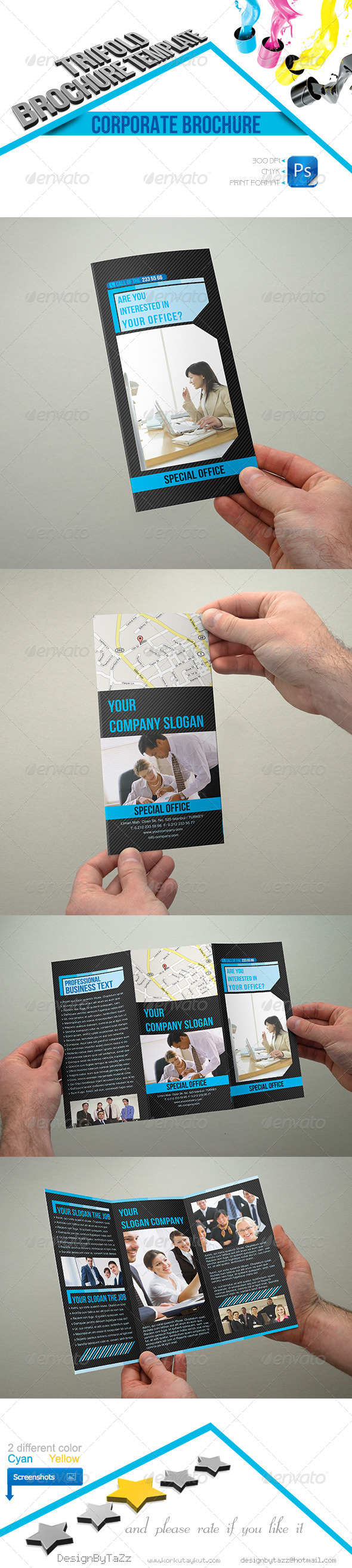 GraphicRiver Corporate Business Trifold Template 4386208