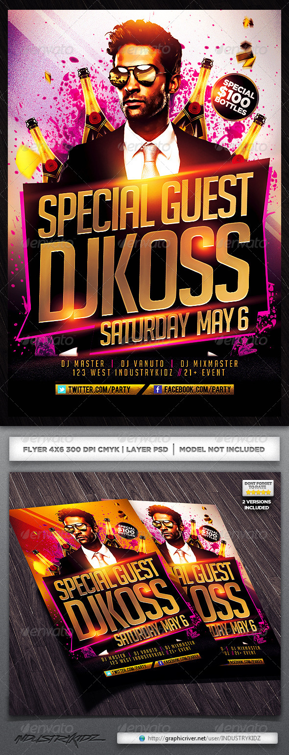 GraphicRiver Guest Dj Flyer Template 4491344