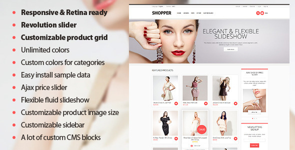 Shopper - Magento Theme, Responsive & Retina Ready - Magento eCommerce