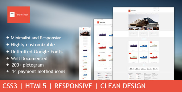 ThemeForest TenderShop Minimal Responsive eCommerce Template 4491720