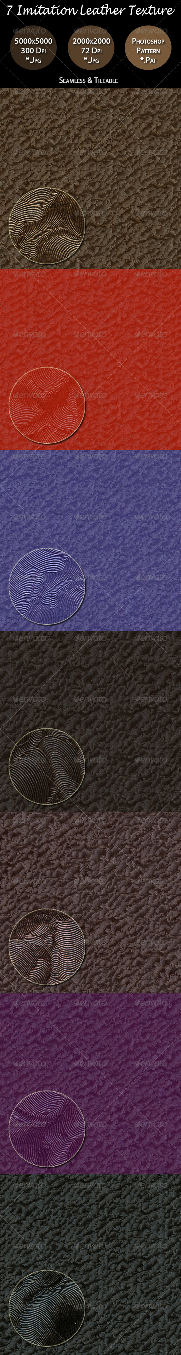 GraphicRiver 7 Imitation Leather Texture Pack 4491998