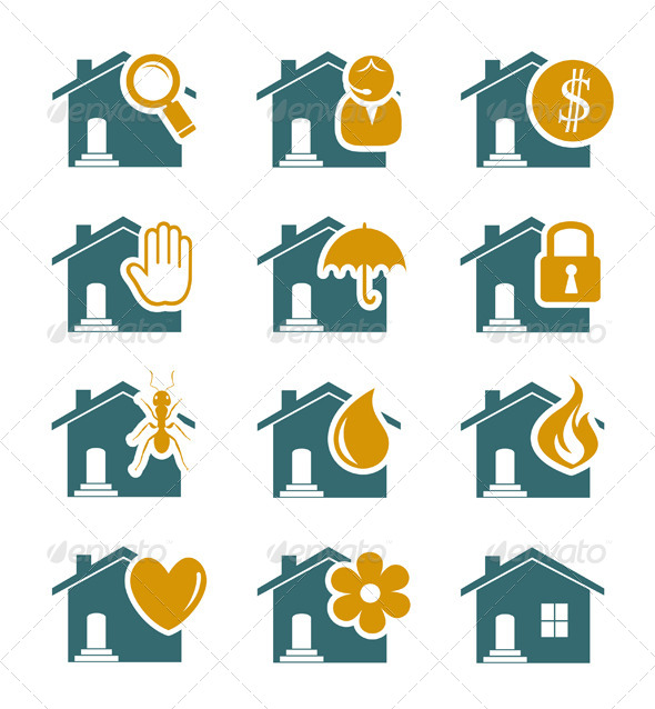 GraphicRiver House Security and Service Icons 4492737