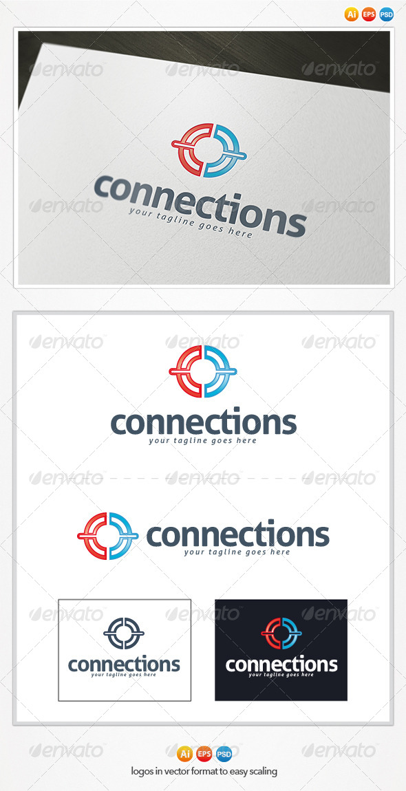 GraphicRiver Connections Logo 4440657