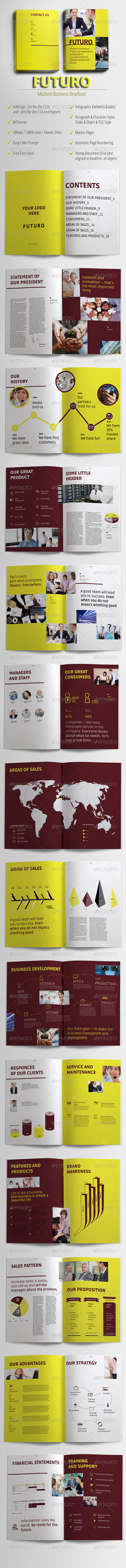 GraphicRiver Futuro Modern Business Brochure 4492989
