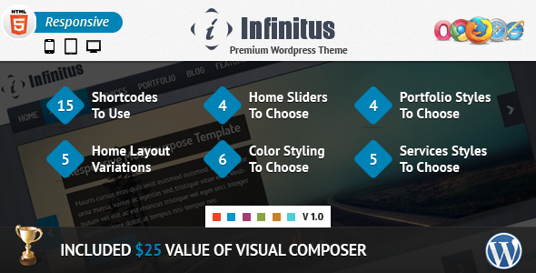 Infinitus : Responsive Business Wordpress Theme - Business Corporate