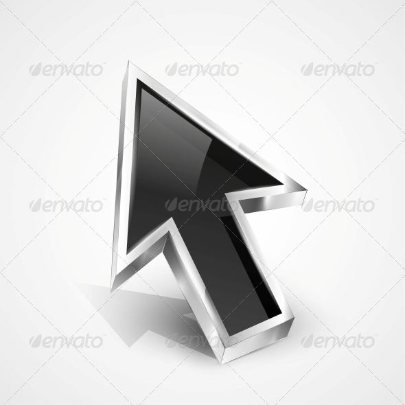 GraphicRiver 3D Vector Glossy Arrow Mouse Pointer 4493581
