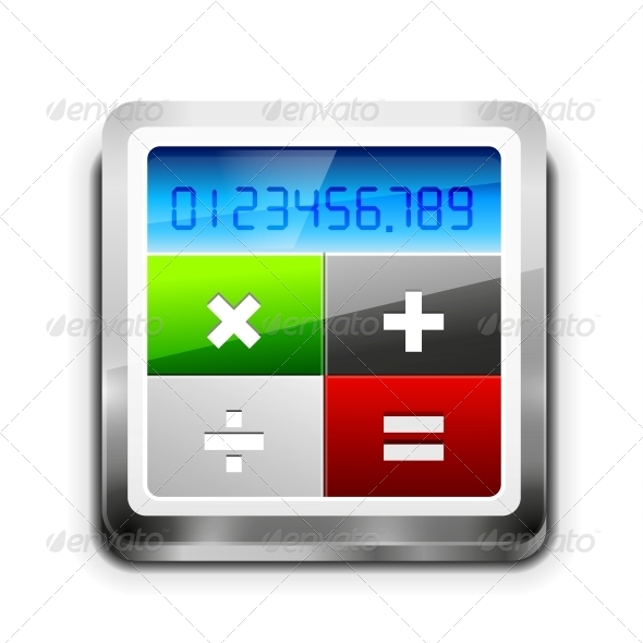 GraphicRiver Vector Calculator Icon 4493623
