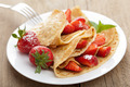 pancakes with strawberry - PhotoDune Item for Sale