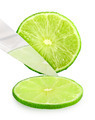 Cutting fresh green lime - PhotoDune Item for Sale