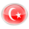 Turkey Flag Icon, isolated on white background. - PhotoDune Item for Sale