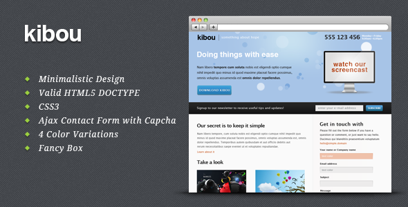 Kibou - Landing page for business