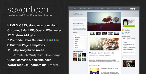 Seventeen WordPress Theme