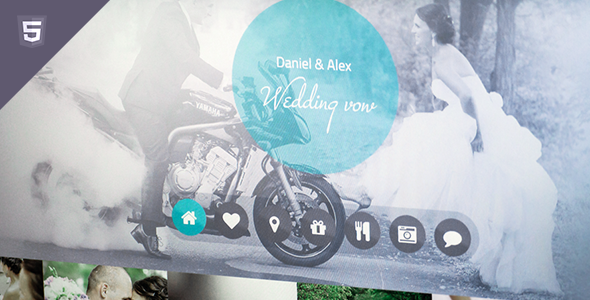 Wedding vow - responsive HTML template - Events Entertainment