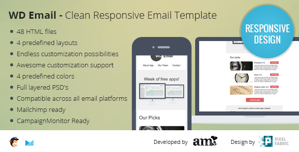 WD Email - Clear Responsive Email Template - Email Templates Marketing