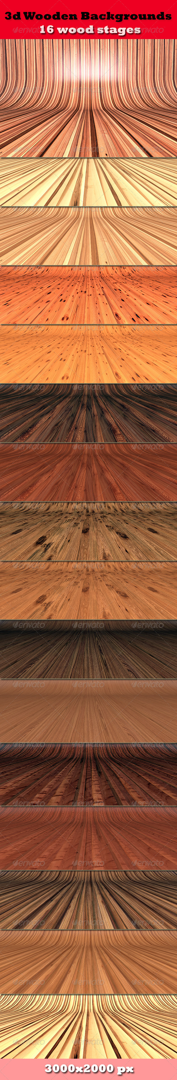 GraphicRiver 3D Wooden Backgrounds 4495901