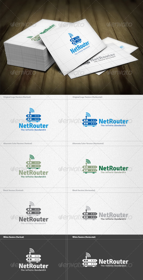 GraphicRiver Network Router Logo 4496270
