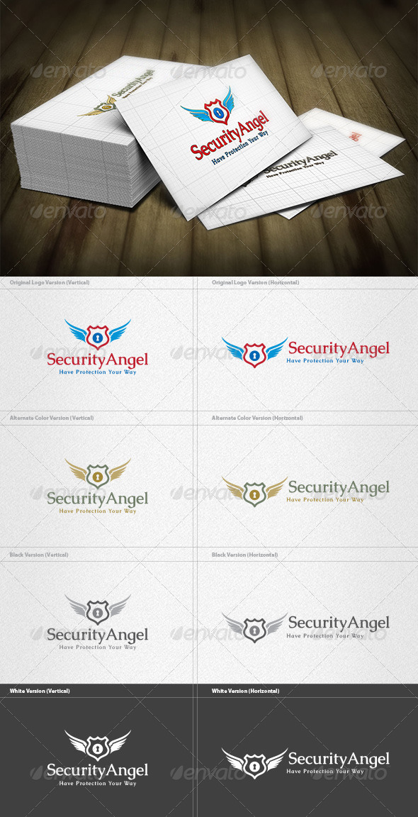 GraphicRiver Security Angel Logo 4496762