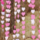 Fluttering Pink Paper Heart Garlands   - VideoHive Item for Sale