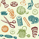 Sewing and Needlework Seamless Pattern Vector - GraphicRiver Item for Sale