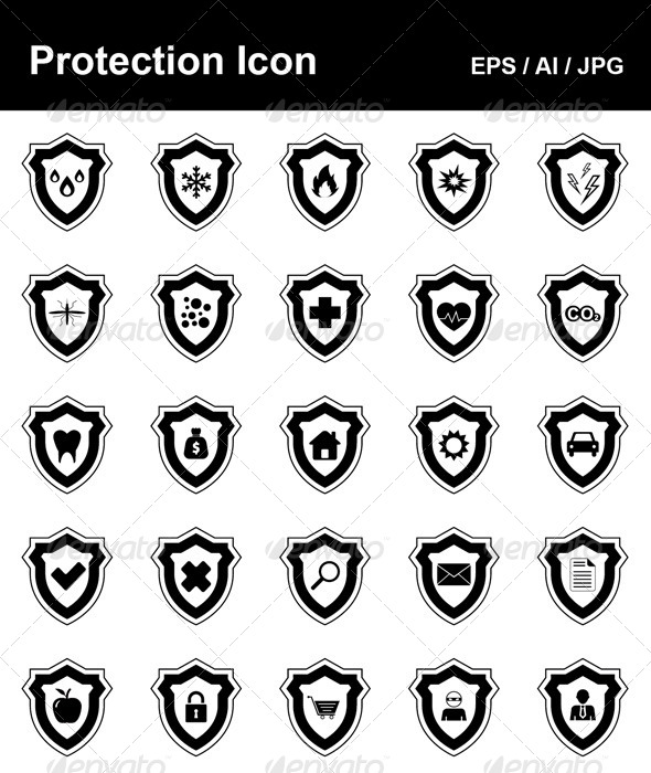 GraphicRiver Protection Icons 4498210
