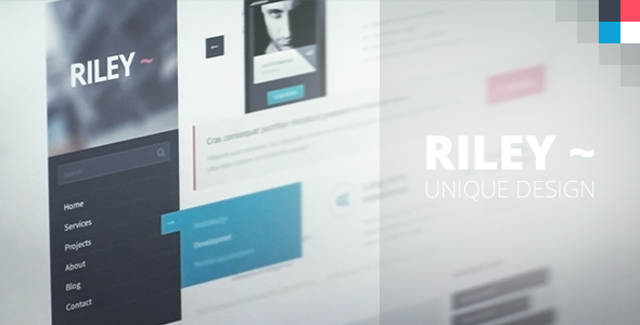 ThemeForest Riley Unique PSD template 4498254
