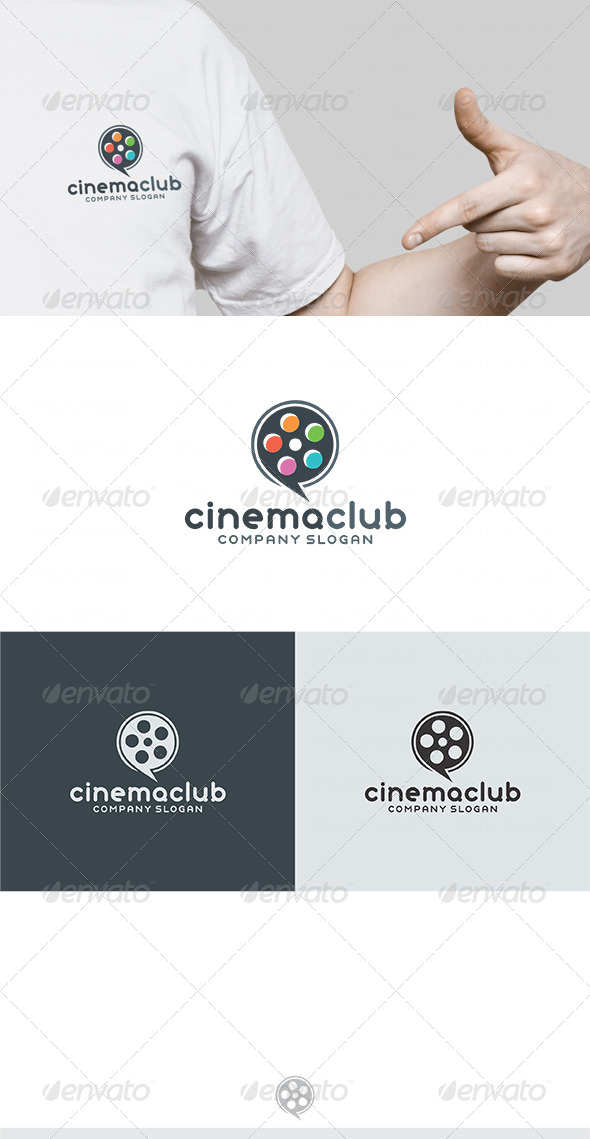 Cinema Club Logo - Vector Abstract