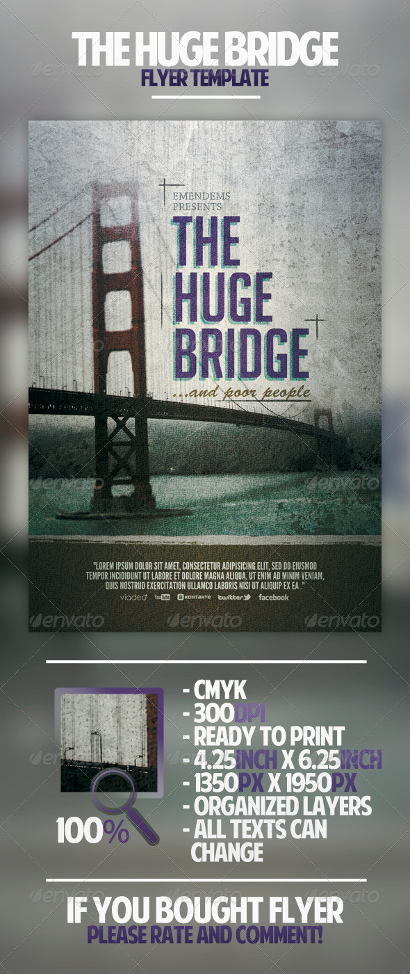 GraphicRiver The Huge Bridge Flyer Template 4498790