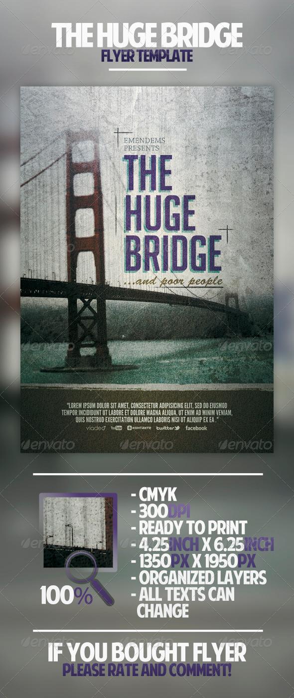 GraphicRiver The Huge Bridge Flyer Template 4498790