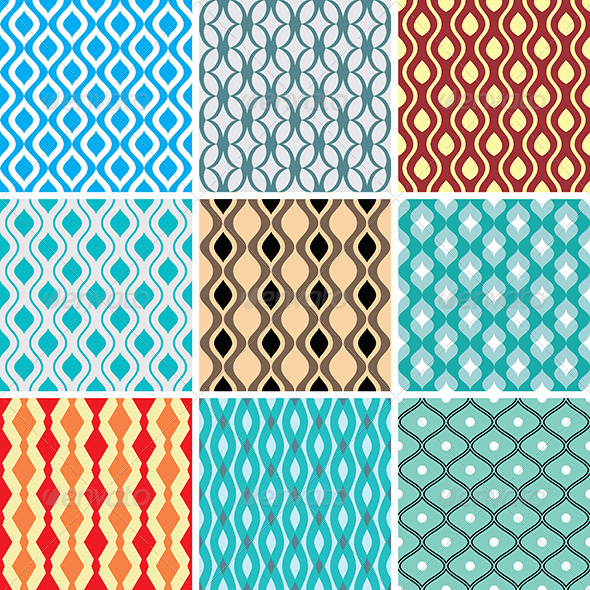 GraphicRiver Abstract Vector Patterns 4499174