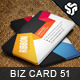 Business Card Design 51 - GraphicRiver Item for Sale