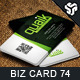 Business Card Design 74 - GraphicRiver Item for Sale