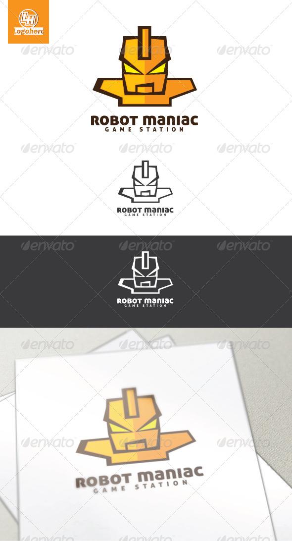 GraphicRiver Robot Maniac Logo Template 4454373