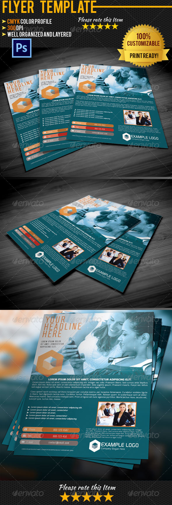 GraphicRiver Corporate Business Flyer 005 4500908