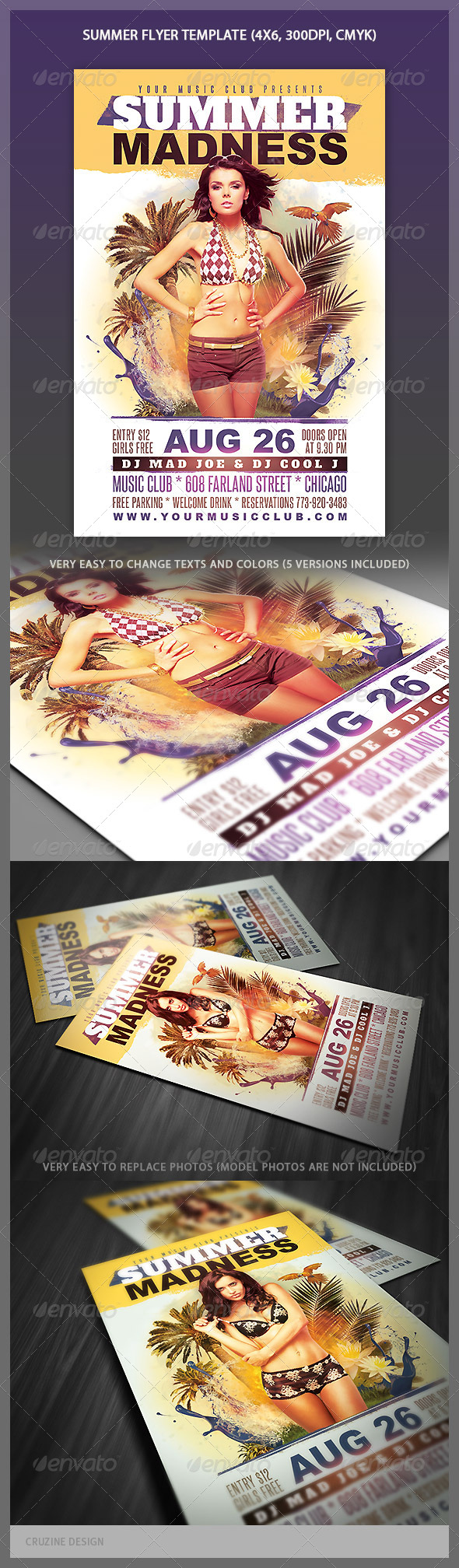 GraphicRiver Summer Party Flyer 4412871