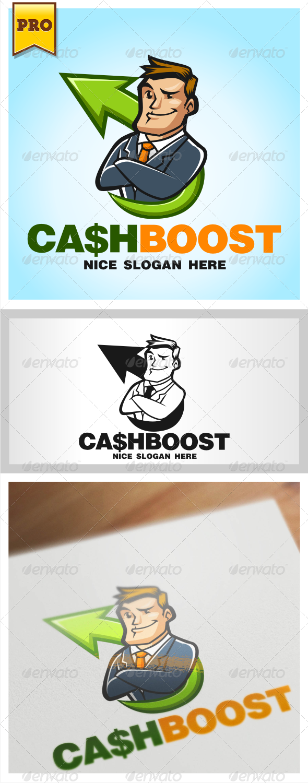 GraphicRiver CashBoost Businessman Logo 4503420