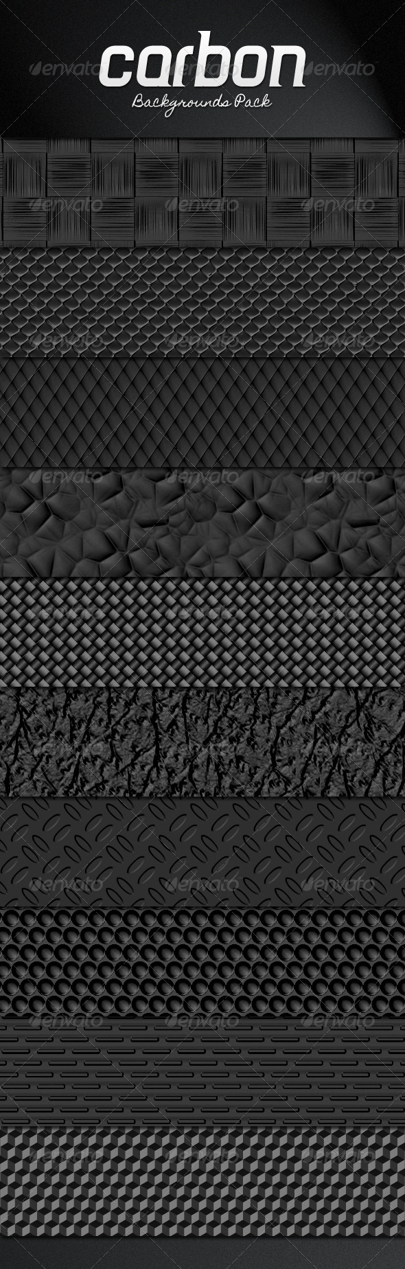 Carbon Backgrounds Pack - Patterns Backgrounds