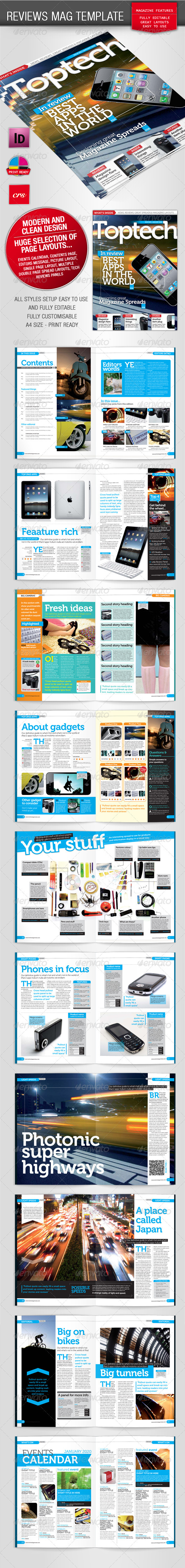 Tech Reviews Magazine Template