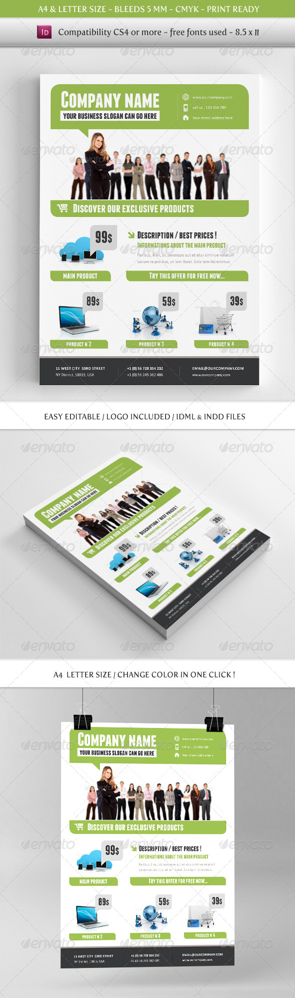 GraphicRiver Corporate & Business Commerce Flyer Template 4506900
