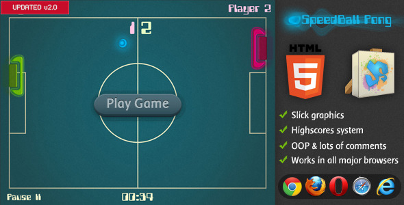 SpeedBall Pong - CodeCanyon Item for Sale