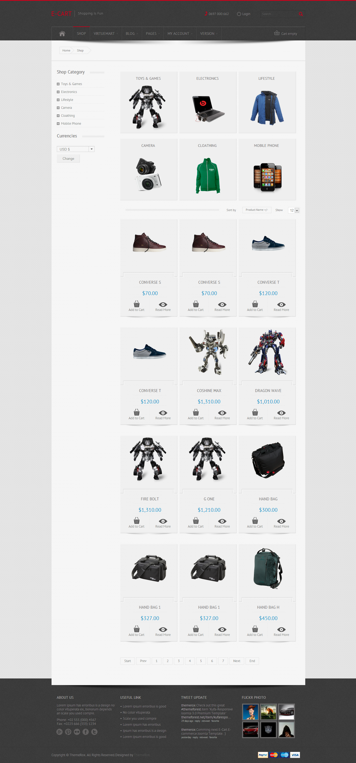 E-Cart - Responsive VirtueMart e-Commerce Template