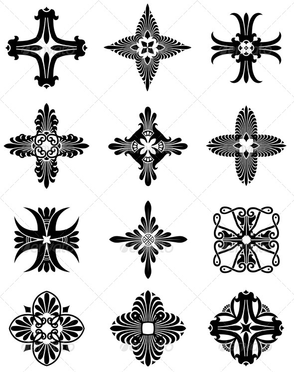 GraphicRiver Greek Cross Icons 4508713