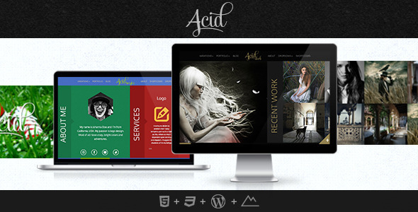 Acid - Unique Horizontal Blog and Portfolio Theme - Experimental Creative