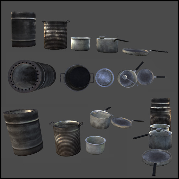 3DOcean Pots and Pans 4508815